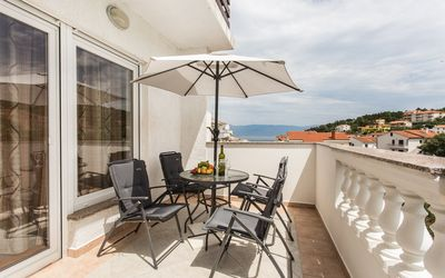 Photo for Holiday apartment with partial sea view