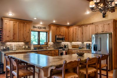 Kitchen overlooking river/Main House