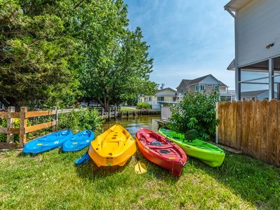Photo for Waterfront Fenwick Home with Kayaks! Intro Pricing