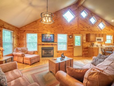 Photo for Sunny Woods Cabin is the perfect place to get away and enjoy the beautiful mountain views with the f