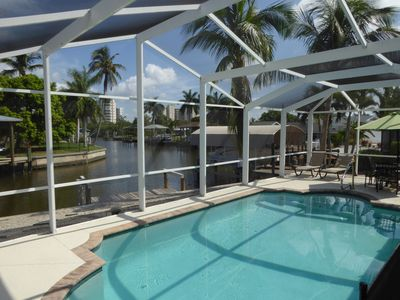 Your view- watch the manatees and dolphins as you swim in the pool.