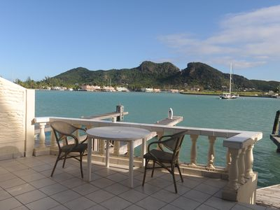 Photo for Villa right on the water in Caribbean Marina, 5 minutes to superb beach