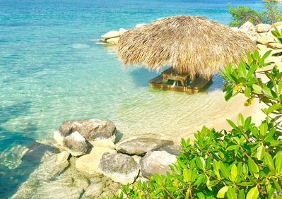Private Beach & In-Water Tiki Hut Table