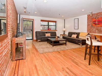 Photo for GORGEOUS 2 STORY 2 BEDROOM/ 2 BATH APARTMENT IN MANHATTAN WITH GARDEN