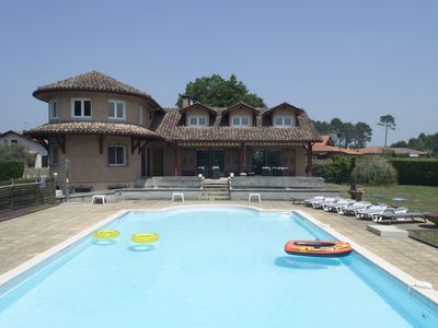 Photo for Large, Modern Villa In Lit-et-mixe, With Private 16m Pool And 1.5 Acres Of Matur