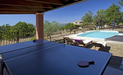 Photo for Country house with pool and views on the edge of the popular village of Bonnieux