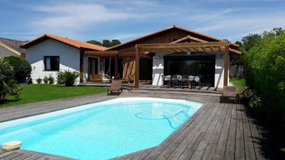Photo for Villa Bliss with pool, 5 bedrooms, 500 m from the ocean Biscarrosse-plage