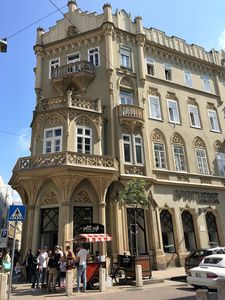 The building from the street