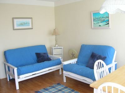 Living room with two futons