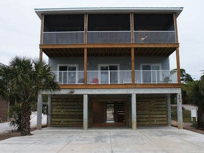 """Photo for """"The Tortuga"""" - 4 Bedroom Home w/ Outdoor Space, Gulf Views and a Private Pool!!"""