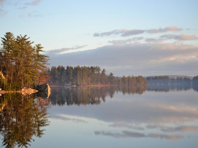 Photo for The Wee White Cottage on Tripp Lake in Poland, Maine.