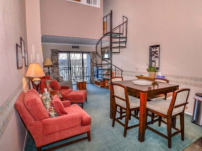 Photo for 712H- Lakefront condo w/ loft bedroom w/ private balcony and fireplace!