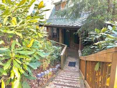 Photo for Nestled in the woods, just 1/2 mile to Mirror Lake