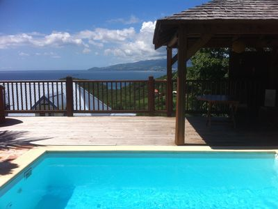 Photo for ADORABLE DUPLEX VILLA WITH POOL AND SEA VIEW CARBET CARIBBEAN