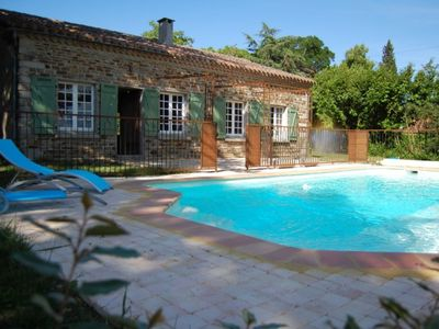 Photo for Charming holiday home with private swimming pool in the heart of Cabardès