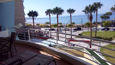 Photo for VERY NICE APARTMENT FACING THE SEA WITH MAGNIFICENT TERRACE GARAGE AND WIFI