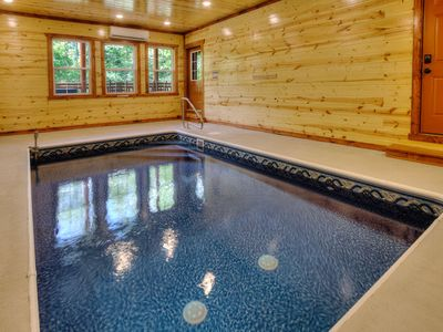 Photo for 4 BR, 4.5 Bath Cabin with Indoor Pool, Theater, Game Room, & Hot Tub ~ Brand New in 2019!