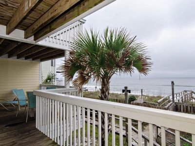 Photo for Resort style oceanfront condo with large deck and great view