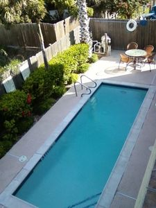 Upper View Of Our Private Fenced Swimming Pool