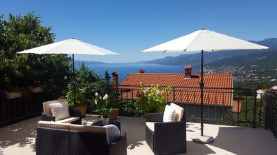 Photo for Holiday apartment with 50 sqm terrace and sea view