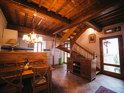 Photo for I Tigli # 2, three bedrooms apartment with pool and AC near Montepulciano