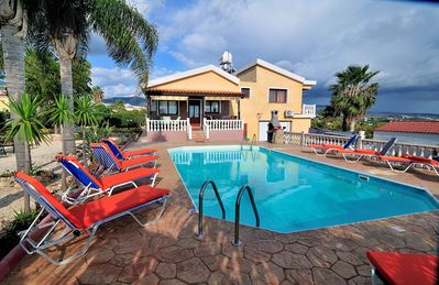 Photo for Villa Kolikas Evac - 5 bedrooms - Large open terrace with great pool - Perfect for families