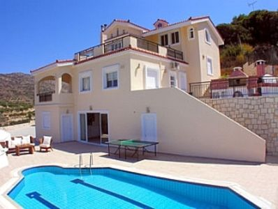 Photo for Luxurious Private Villa with Private Pool and Sea Views- 6 min drive from beach
