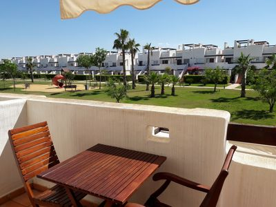 Photo for Luxurious apartament in golf resort with roof solarium, pool & garden.