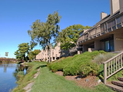 Photo for Riverfront 2b/2b Condo with Lake Michigan Access & Views in Glen Arbor!