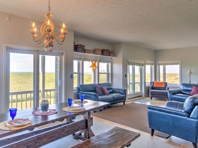 "Photo for NEW!! 2 FREE nights. Oceanfront, Wow Views, 75""TV/Home Theater, Pets OK"