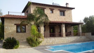 """Photo for """"Valencia Grove"""" Traditional Stone Villa with Pool"""