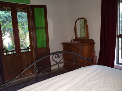 All the bedrooms have french doors that lead out onto the verandahs.