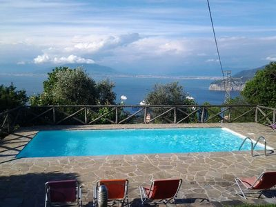 Photo for Six (or Seven) Bedroom Villa Sorrento Coast  Villa Giuditta is situated in a gorgeous position on the