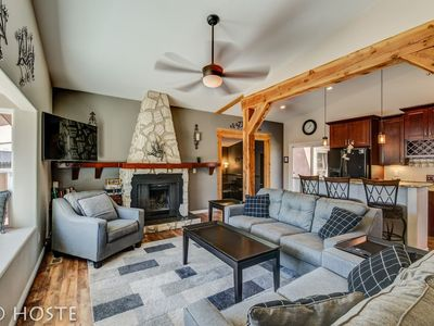 Photo for ☃ Mtn Dream! ❄ Fireplace, Patio & Hot Tub | 4BR