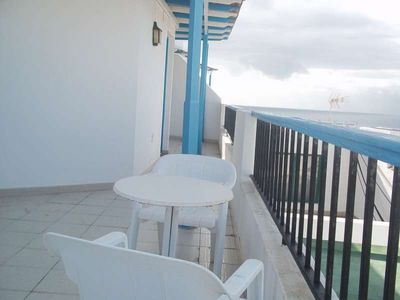 Photo for Apartment WYZONZE in Puerto del Carmen for 2 persons with terrace, balcony, views to the ocean, views of the volcanoes, WIFI on the go and less than 1000m to the sea
