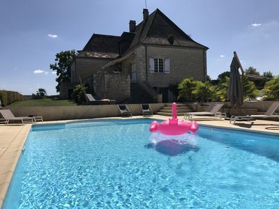Photo for Charming charming house with breathtaking views of the Dordogne