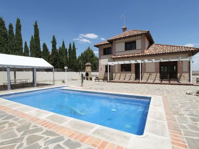 Photo for 5 bedroom Villa, sleeps 18 with Pool, Air Con, FREE WiFi and Walk to Shops