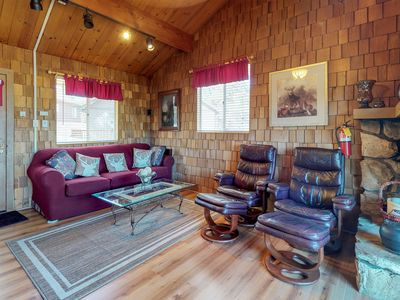 Photo for New Listing! Dog-friendly cabin with balcony views, near skiing and lake