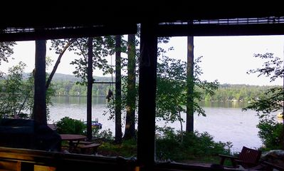 Photo for Rustic Lakeside Camp On Quiet Waukewan: Dock, Beach, Yard, Garage, Near Town