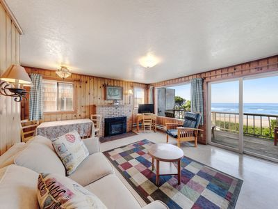 Photo for Oceanfront, dog-friendly retreat w/ocean views & relaxing deck facing the water!