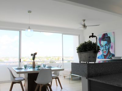 modern and comfortable apartment near the center of cancun area for 6 people