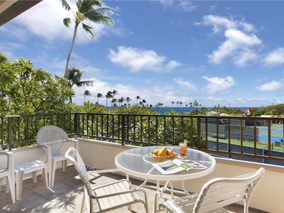 "Photo for Poipu Vacation Rental Suite Overlooking a lush green belt ""A/C Bedroom"" *Kahala 224*"