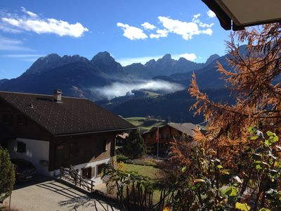 Photo for Comfortable mountain flat in Château d'Oex, sleeps 2