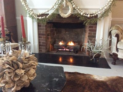 A fireplace in every room, four are equipped with gas logs