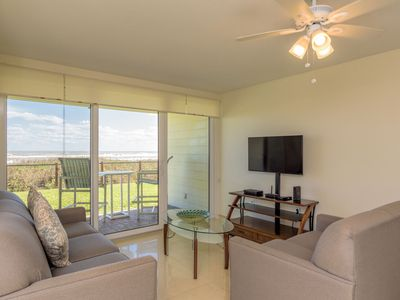 Photo for 1st floor beachfront! The closest condo to the beach! Beautiful resort, shared pools and jacuzzi.