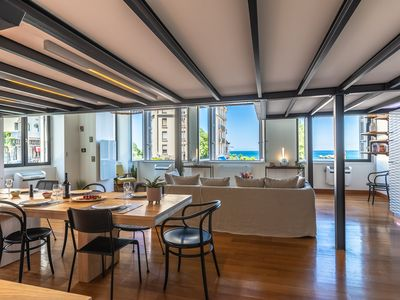 Photo for Lakaz - Splendid loft in front of the Port Vieux beach - Aircon and Parking