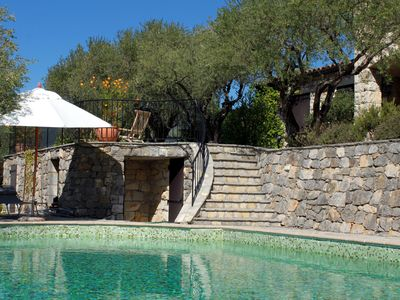 Photo for Charming stone villa with private pool, stunning views, walk to the village