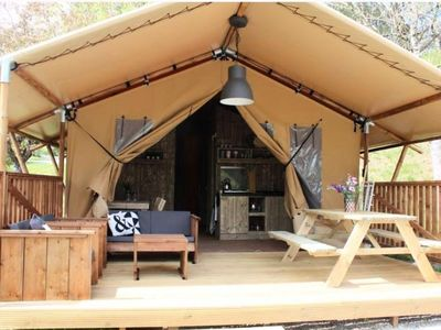 Photo for Camping Lake Causse *** - Safari Tent 3 rooms 4 people