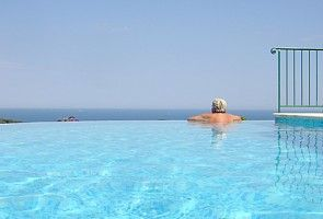 View of the Mediterranean from the infinity pool