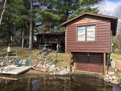 Photo for Fabulous Crosslake 4BR+ Sandy beach, sunrises, private yard, smores & bonfires